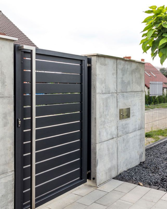 Front Swing Gate manufactured locally by Graham Aluminium