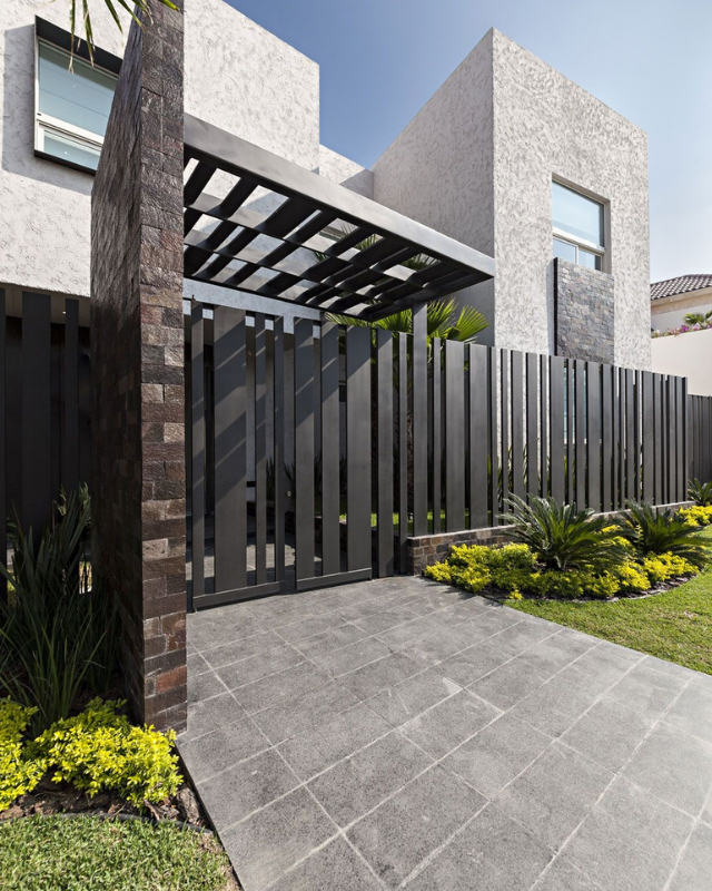 A fence and a gate integrated together to form a strong parameter