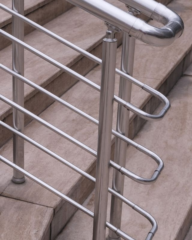 Stair railing made of iron or galvanized steel
