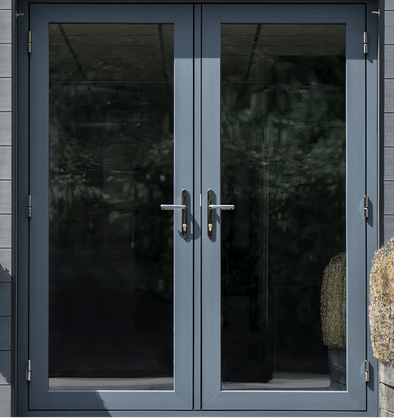 PVC doors integrated with the interior design of the house.